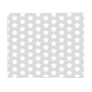 Grey Stars Fleece Blanket