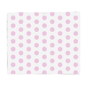 Pink Spots Fleece Blanket