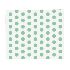 Green Spots Fleece Blanket