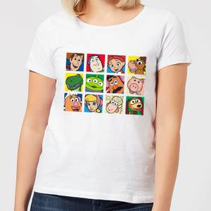 Disney Toy Story Face Collage Women's T-Shirt - White