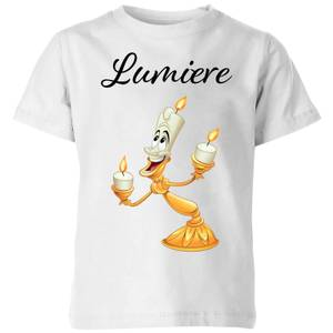 Disney Beauty And The Beast Lumiere Kids' T-Shirt - White