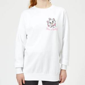 Disney Aristocats Marie I'm A Lady Women's Sweatshirt - White