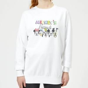 Disney Mickey's Friends Women's Sweatshirt - White