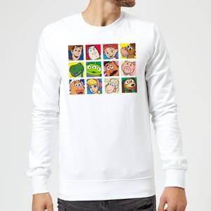 Disney Toy Story Face Collage Sweatshirt - White