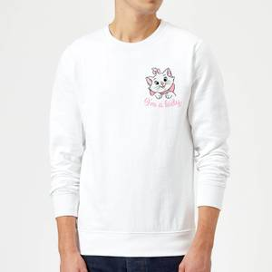Disney Aristocats Marie I'm A Lady Sweatshirt - White