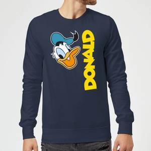 Disney Donald Duck Face Sweatshirt - Navy