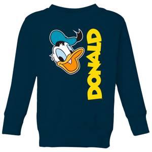 Disney Donald Duck Face Kids' Sweatshirt - Navy