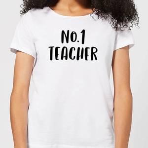 No.1 Teacher Women's T-Shirt - White