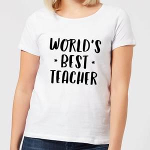 World's Best Teacher Women's T-Shirt - White