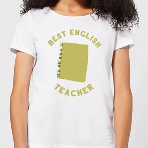 Best English Teacher Women's T-Shirt - White