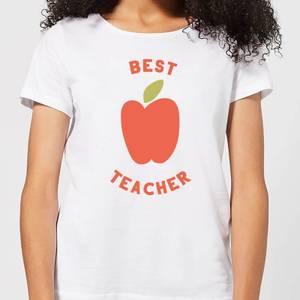 Best Teacher Apple Women's T-Shirt - White