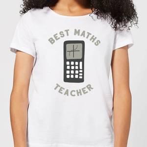 Best Maths Teacher Women's T-Shirt - White
