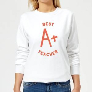 Best Teacher Women's Sweatshirt - White