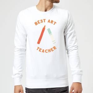 Best Art Teacher Sweatshirt - White