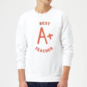 Best Teacher Sweatshirt - White