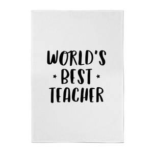 World's Best Teacher Cotton Tea Towel