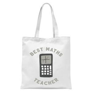 Best Maths Teacher Tote Bag - White