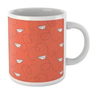 Paper Airplane Mug Orange