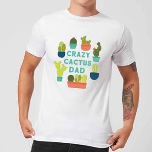 Crazy Cactus Dad Men's T-Shirt - White