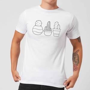 Hand Drawn Cacti Men's T-Shirt - White