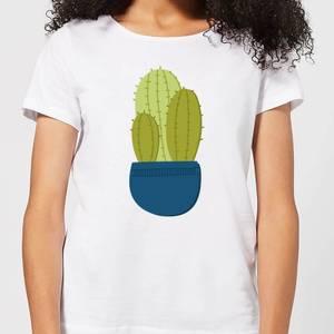 Three Potted Cacti Women's T-Shirt - White