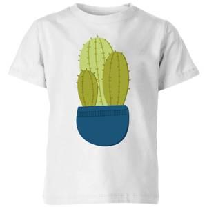 Three Potted Cacti Kids' T-Shirt - White