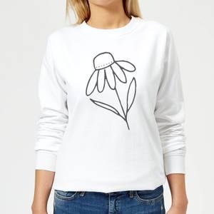 Flower Women's Sweatshirt - White