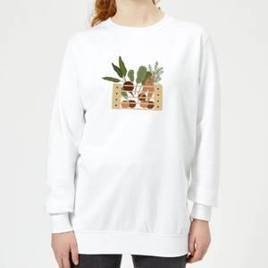 Vegetable Box Women's Sweatshirt - White