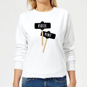 Basil And Mint Women's Sweatshirt - White
