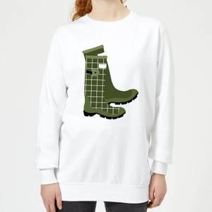 Wellies Women's Sweatshirt - White