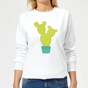Tall Cactus Women's Sweatshirt - White
