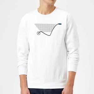 Wheel Barrow Sweatshirt - White