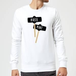 Basil And Mint Sweatshirt - White