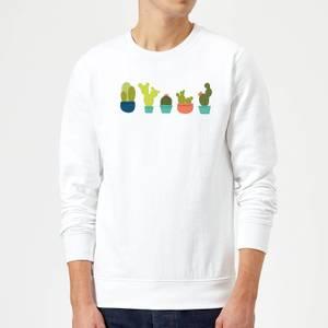 Cacti In A Row Sweatshirt - White