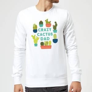 Crazy Cactus Dad Sweatshirt - White