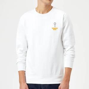 Pocket You Grow Girl Sweatshirt - White