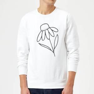 Flower Sweatshirt - White