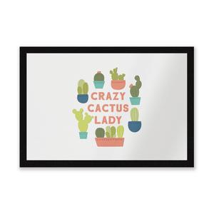 Crazy Cactus Lady Entrance Mat