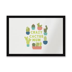 Crazy Cactus Mum Entrance Mat