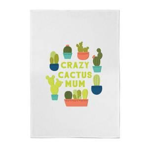 Crazy Cactus Mum Cotton Tea Towel