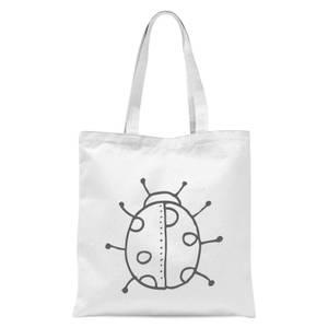 Ladybird Tote Bag - White