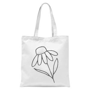 Flower Tote Bag - White