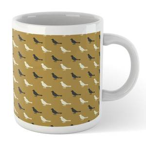 Golden Bird Pattern Mug