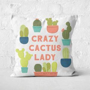 Crazy Cactus Lady Square Cushion