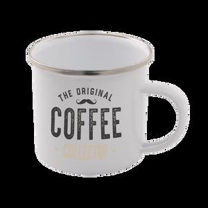 The Original Coffee Collector Enamel Mug – White
