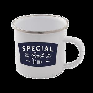 Special Breed Of Man Enamel Mug – White