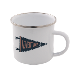 Adventure Enamel Mug – White