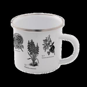Flowers Enamel Mug – White