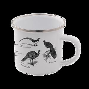 Birds Enamel Mug – White