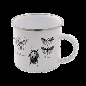 Insects Enamel Mug – White